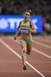 August 8, 2017 - London, England, United Kingdom - Viktoriya ZYABKINA, Kazakstan  during 200 meter  heats in London at the 2017 IAAF World Championships athletics on August 8, 2017. (Credit Image: © Ulrik Pedersen/NurPhoto via ZUMA Press)