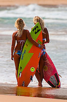 Female surfers, Manly Beach, Sydney, New South Wales, Australia