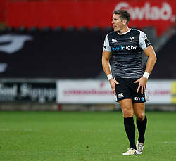 James Hook of Ospreys<br /> <br /> Photographer Simon King/Replay Images<br /> <br /> Guinness PRO14 Round 2 - Ospreys v Cheetahs - Saturday 8th September 2018 - Liberty Stadium - Swansea<br /> <br /> World Copyright © Replay Images . All rights reserved. info@replayimages.co.uk - http://replayimages.co.uk