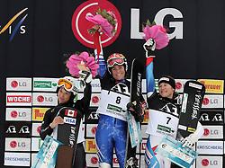 06-01-2010 SNOWBOARDEN: FIS WORLDCUP: KREISCHBERG<br /> Alexa Loo (CAN) Nicolien Sauerbreij (NED) Fraenzi Maegert-Kohli (SUI)<br /> ©2010- FRH-nph / Markus Leodolter
