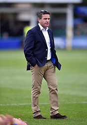 Bath Rugby Head Coach Mike Ford looks on during the pre-match warm-up - Mandatory byline: Patrick Khachfe/JMP - 07966 386802 - 17/10/2015 - RUGBY UNION - The Recreation Ground - Bath, England - Bath Rugby v Exeter Chiefs - Aviva Premiership.