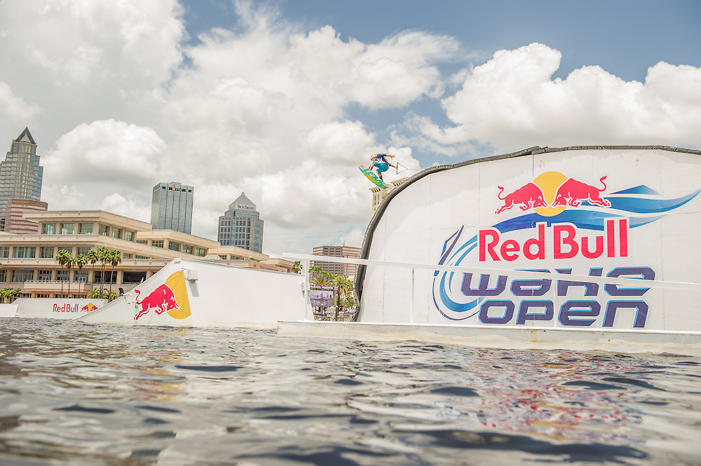 Steel Lafferty Competes at Red Bull Wake Open in Tampa Bay, Florida on July 5th 2013.