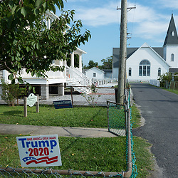 August 4, 2017 - Tangier Island, VA - The dominant pro-Trump island is already gearing up for the 2020 election on Tangier Island. <br /> Photo by Susana Raab/Institute