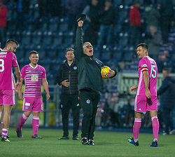 Ayr United's manager Ian McCall at the end. Falkirk 0 v 1 Ayr United, Scottish Championship game played 3/11/2018 at The Falkirk Stadium.