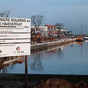 Werkzaamheden haven van Huizen aan de kade en riolering