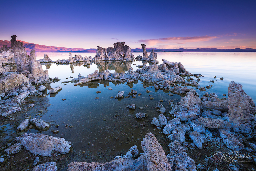 Dawn light and tufa towers at Mono Lake, Mono Basin National Scenic Area, California USA