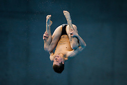 Freddie Woodward of Great Britain in action during the Mens 3m Springboard Preliminary - Mandatory byline: Rogan Thomson/JMP - 12/05/2016 - DIVING - London Aquatics Centre - Stratford, London, England - LEN European Aquatics Championships 2016 Day 4.