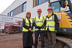 Pictured: Michael Matheson was joined by Chief Nurse Alison MacDonald and Cklinical Advisior and coimmissioning Manager, Marjo Van Weissel for his tour of the faciolities which will be fully open in September 2019<br /> <br /> Infrastructure Secretary Michael Matheson visited East Lothian Community Hospital's construction site today to give an update on the Scottish Government's infrastructure programme, on the same day as an annual progress report is published<br /> <br /> Ger Harley   EEm 17 April 2019