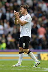 Derby County's Chris Martin - Photo mandatory by-line: Dougie Allward/JMP - Mobile: 07966 386802 30/08/2014 - SPORT - FOOTBALL - Derby - iPro Stadium - Derby County v Ipswich Town - Sky Bet Championship