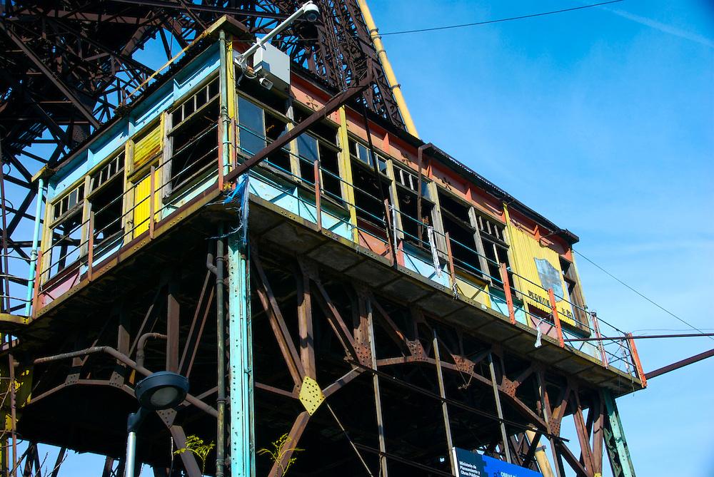 Nicolas Avellaneda Bridge, in La Boca, Buenos Aires, this is a very popular tourist destination in Buenos Aires,