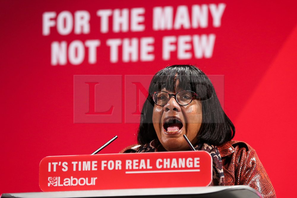 © Licensed to London News Pictures. 26/11/2019. London, UK. Shadow Home Secretary, DIANE ABBOTT speaks at the launch of Labour Party's Race and Faith Manifesto at the Bernie Grant Arts Centre in Tottenham, North London. DAWN BUTLER launched the Race and Faith consultation at Labour Party conference, which received over 1,700 online responses, and held consultation events across the country to get to the issues affecting Black, Asian and Minority Ethnic (BAME) and faith communities. Photo credit: Dinendra Haria/LNP
