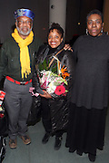 31 January 2011-New York, NY-  l to r: Chester Higgins, Dr. Deb Wilis, and Mary Yearwood at The Schomburg Center's dual Opening of Soulful Stitching and Harlem Views: Diasporian Visions Exhibitions held at the Schomburg Center for Research in Black Culture on January 31, 2011 in Harlem, New York City. Photo credit: Terrence Jennings