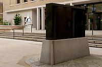Bouke de Vries sculpture in the Japanese garden of the UCL Student Centre, Gordon Street,London,UK.