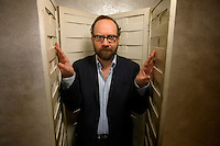 Actor Paul Giamatti poses for a portrait in the HBO building in New York, U.S. 2/1/08.