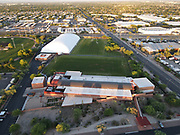 A general overall aerial view of the Dignity Health Arizona Cardinals Traning Center amid the global coronavirus COVID-19 pandemic, Saturday, May 17, 2020, in Tempe, Ariz.