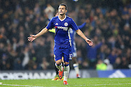 Pedro of Chelsea celebrates after scoring his sides 4th goal to make it 4-1. The Emirates FA cup, 3rd round match, Chelsea v Peterborough Utd at Stamford Bridge in London on Sunday 8th January 2017.<br /> pic by John Patrick Fletcher, Andrew Orchard sports photography.