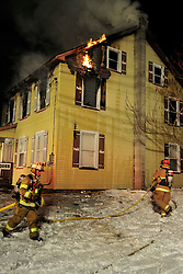 1/26/2014 Bath, PA Fire crews were called to 351 Moorestown Road late sunday evening for a commercial structure fire at the Moore Gallery. Photo | CHRIS POST