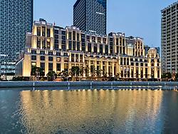 November 1, 2018 - Shanghai, Shanghai, China - Shanghai, CHINA-Night scenery of Bellagio Shanghai Hotel. (Credit Image: © SIPA Asia via ZUMA Wire)