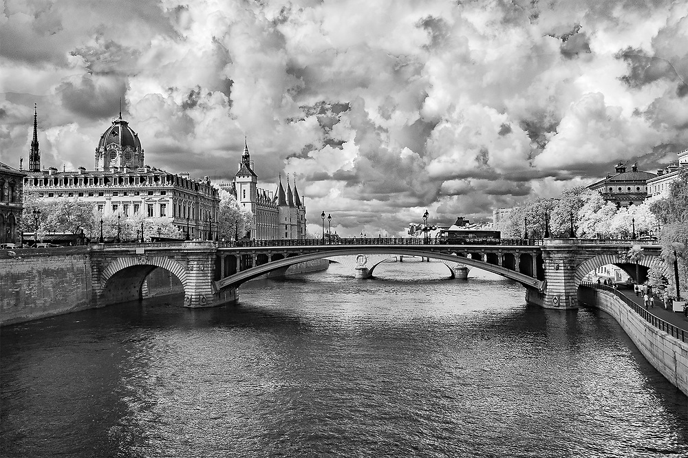 Restless Clouds over the Seine, Paris, France