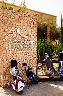 06-10-2015 -  Foto van Entree clubhuis bij Assoufid Golf Club in Marrakech, Marokko. De 18 holes van de Assoufid Golf Club zijn ontworpen door Niall Cameron. Bij helder weer bieden enkele holes fraaie uitzichten op het Atlas gebergte.