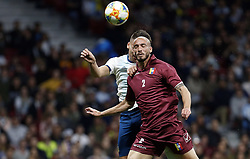 March 22, 2019 - Madrid, Madrid, Spain - Argentina's Lautaro Martinez and Venezuela's Wilker Angel are seen in action during the International Friendly match between Argentina and Venezuela at the wanda metropolitano stadium in Madrid. (Credit Image: © Manu Reino/SOPA Images via ZUMA Wire)