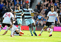 Football - 2016 /2017 Championship - Fulham vs Queens Park Rangers<br /> <br /> Nedum Onuoha of QPR and Lucas Piazon of QPR at Craven Cottage<br /> <br /> <br /> Credit : Colorsport / Andrew Cowie