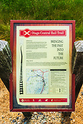 Interpretive sign on the Otago Central Rail Trail, Otago, South Island, New Zealand
