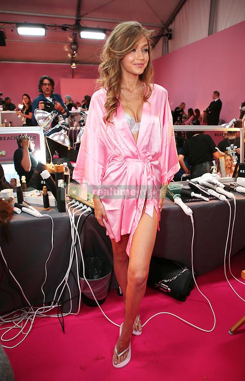 Victoria's Secret Fashion Show - Hair and Makeup, Paris, 2016, Paris, France. 30 Nov 2016 Pictured: Gigi Hadid. Photo credit: MEGA TheMegaAgency.com +1 888 505 6342