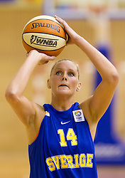 Louice Halvarsson of Sweden during  Eurobasket Women - Div. B 2013 Qualifications Game between National team of Slovenia and Sweden in 4th Round of Group A, on June 5, 2011 in  Arena Vitranc, Kranjska Gora, Slovenia. Slovenia defeated Sweden 70-63. (Photo By Vid Ponikvar / Sportida.com)