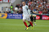 Wayne Rooney of England in action. UEFA Euro 2016, group B , England v Wales at Stade Bollaert -Delelis  in Lens, France on Thursday 16th June 2016, pic by  Andrew Orchard, Andrew Orchard sports photography.