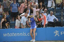 June 20, 2017 - Birmingham, England - LUCIE SAFAROVA after winning her first round match v. D. Cibulkova in the Aegon Classic Birmingham tennis tournament. (Credit Image: © Christopher Levy via ZUMA Wire)