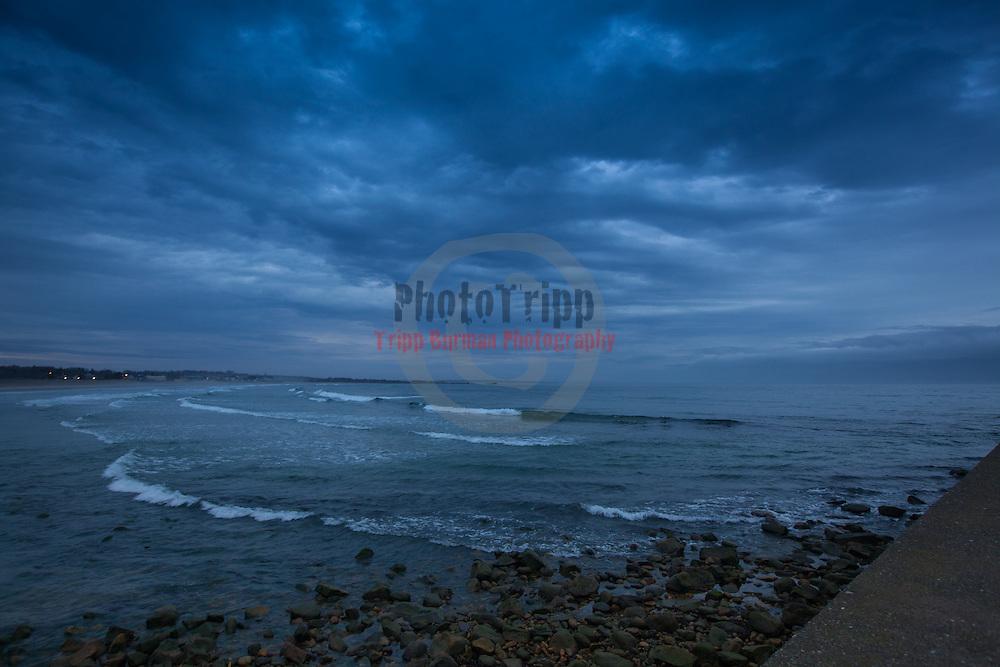 Today's   sunrise at Narragansett Town Beach,  .  April  17, 2013.