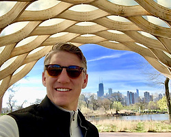 """Bastian Schweinsteiger releases a photo on Instagram with the following caption: """"A morning walk in Chicago before tonight\u2019s match!"""". Photo Credit: Instagram *** No USA Distribution *** For Editorial Use Only *** Not to be Published in Books or Photo Books ***  Please note: Fees charged by the agency are for the agency's services only, and do not, nor are they intended to, convey to the user any ownership of Copyright or License in the material. The agency does not claim any ownership including but not limited to Copyright or License in the attached material. By publishing this material you expressly agree to indemnify and to hold the agency and its directors, shareholders and employees harmless from any loss, claims, damages, demands, expenses (including legal fees), or any causes of action or allegation against the agency arising out of or connected in any way with publication of the material."""