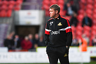Grant McCann of Doncaster Rovers (Manager) looks on as his side equalise late on to make it 3-3 during the EFL Sky Bet League 1 match between Doncaster Rovers and Gillingham at the Keepmoat Stadium, Doncaster, England on 20 October 2018.