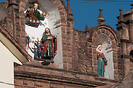 Detail of sculpture of the Cathedral of Cuzco