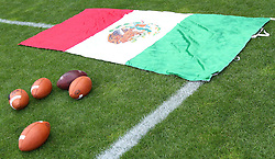 10.07.2011, Tivoli Stadion, Innsbruck, AUT, American Football WM 2011, Group A, Mexico (MEX) vs Australia (AUS), im Bild feature with mexican flag and football // during the American Football World Championship 2011 Group A game, Mexico vs Australia, at Tivoli Stadion, Innsbruck, 2011-07-10, EXPA Pictures © 2011, PhotoCredit: EXPA/ T. Haumer
