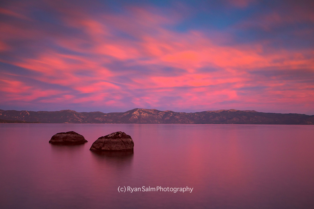 Pink Sunset Tahoe