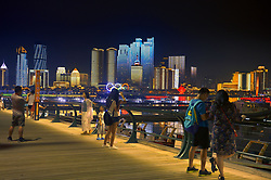 August 2, 2018 - Qingdao, Qingdao, China - Qingdao, CHINA-Night scenery of lighting show in Qingdao, east China's Shandong Province. (Credit Image: © SIPA Asia via ZUMA Wire)