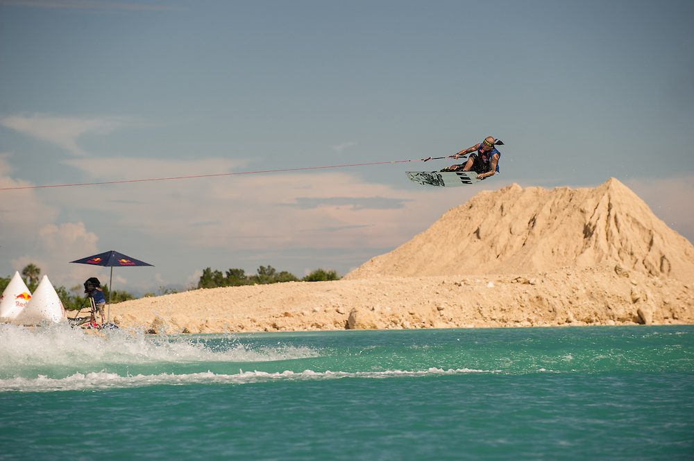 Randall Harris performs at the Red Bull Wake Open in Tampa Bay, Florida, USA on July 7, 2012