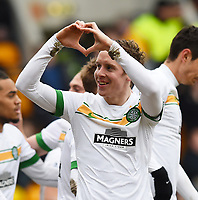 14/02/15 SCOTTISH PREMIERSHIP<br /> ST JOHNSTONE v CELTIC<br /> MCDIARMID PARK - PERTH<br /> Celtic's Stefan Johansen celebrates after scoring his side's second goal