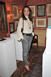 JEANNE MARINE at a lunch hosted by Roger Viver in honour of Bruno Frisoni their creative director, held at Harry's Bar, 26 South Audley Street, London on 31st March 2011.