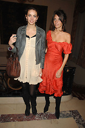 Left to right, sisters ROSE HANBURY and MARINA HANBURY at a party to celebrate the publication of The End of Sleep by Rowan Somerville held at the Egyptian Embassy, London on 27th March 2008.<br /><br />NON EXCLUSIVE - WORLD RIGHTS
