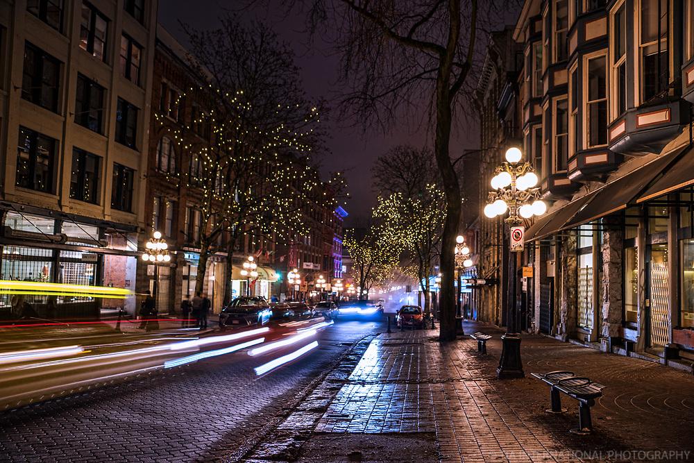 Night Commute, Water Street, Gastown