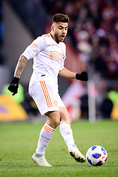 October 28, 2018 - Toronto, ON, U.S. - TORONTO, ON - OCTOBER 28: Hector Villalba (15) of Atlanta United FC passes the ball during the second half of the MLS Decision Day match between Toronto FC and Atlanta United FC on October 28, 2018, at BMO Field in Toronto, ON, Canada. (Photograph by Julian Avram/Icon Sportswire) (Credit Image: © Julian Avram/Icon SMI via ZUMA Press)