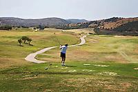ALCAIDESA (Spain)  -  Hole 1 .  Heathlands Golf Course en Links Golf. COPYRIGHT KOEN SUYK