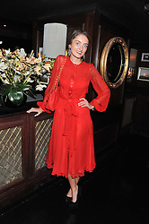FRANCES EVANS at the launch of Beulah's collaboration with Hennessy Gold Cup and a preview of the SS13 Collection held at The Brompton Club, 92b Old Brompton Road, London SW7 on 18th October 2012.