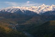 Wonderful view on Altau Range, Almaty, Kazakhstan