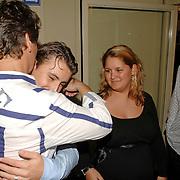 NLD/Hilversum/20061003 - 1e Tryout concert Rene Froger, Rene met zoon Danny en zwangere dochter Natascha