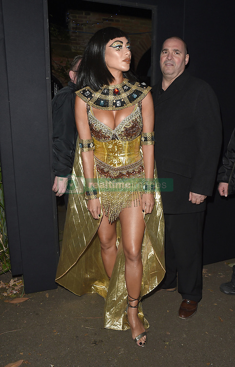 Celebrities attend an annual Halloween party, held at the Hampstead home of talk show host Jonathan Ross. 31 Oct 2017 Pictured: Nicole Scherzinger. Photo credit: Will / Craig / MEGA TheMegaAgency.com +1 888 505 6342