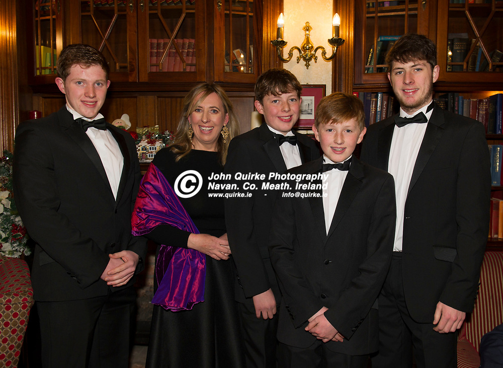 24-11-18. Meath Business and Tourism Awards 2018 at the Newgrange Hotel, Navan.<br /> L to R: Rory, June, Harry, Theo and Hugh Staunton, Fordstown.<br /> John Quirke / www.quirke.ie<br /> ©John Quirke Photography, Unit 17, Blackcastle Shopping Cte. Navan. Co. Meath. 046-9079044 / 087-2579454.